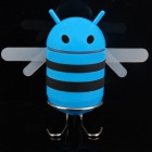 Cute Bee Style USB Rechargeable MP3 Music Speaker w/ FM / Line-In / USB / TF - Blue