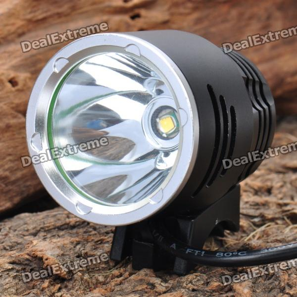 3-Mode 500-Lumen LED Yellow Light Headlamp/Bike Light Set (4 x 18650/ 58cm-Cable length)