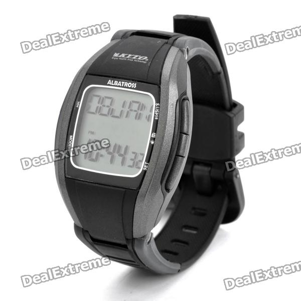 Stylish Digital Sports 5.3KHz Wireless Heart Rate Monitor Wrist Watch - Black (1 x CR2032)
