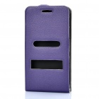 Protective Leather Cover PVC Case w/ Screen Guard & Cloth Set for Samsung i9100 Galaxy S2 - Purple