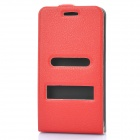 Protective Leather Cover PVC Case w/ Screen Guard & Cloth Set for Samsung i9100 Galaxy S2 - Red
