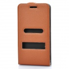Protective Leather Cover PVC Case w/ Screen Guard & Cloth Set for Samsung i9100 Galaxy S2 - Brown