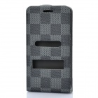 Protective Leather Cover PVC Case w/ Screen Guard & Cloth Set for Samsung i9100 Galaxy S2 - Grey
