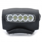 3-Mode 5-LED White + Red Bike Safety Light - Black (3 x AAA)