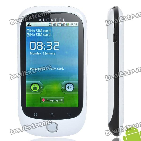 "Alcatel OT-927M Android 2.2 WCDMA Smartphone w/ 3.2"" Capacitive and Dual SIM - White (4GB TF)"