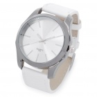 Designer's Fashion PU Leather Band Wrist Watch - White (1 x CR626)
