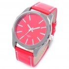 Designer's Fashion PU Leather Band Wrist Watch - Red (1 x CR626)