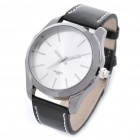 Designer's Fashion PU Leather Band Wrist Watch - Black (1 x CR626)