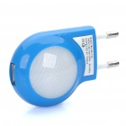 AC Power Adapter w/ 2-LED White Lights + USB Cable Set for iPhone - Blue (EU Plug)