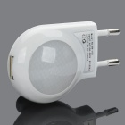 AC Power Adapter w / 2-LED White Lights + USB Daten & Ladekabel Set für Apple iPhone - White
