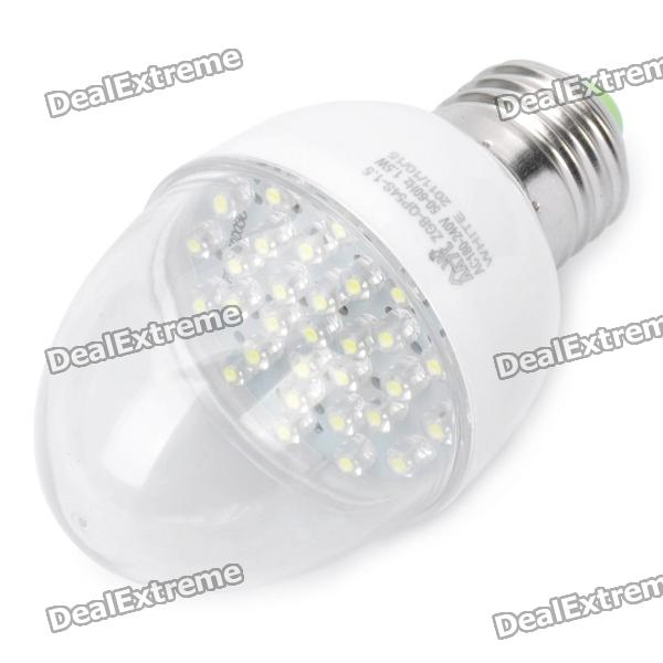 все цены на E27 1.5W 6500K 158-Lumen 30-LED White Light Bulb (AC 180~240V) онлайн