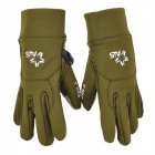 Anti-Slip Capacitive Screen Touching Hand Warmer Gloves - Army Green (Size-M)