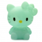 Cute Hello Kitty Style Coin Bank Display Toy with Color Changing Light - Light Green (2 x AG13)
