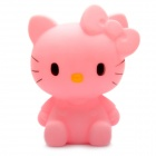 Cute Hello Kitty Style Coin Bank Display Toy with Color Changing Light - Pink (2 x AG13)