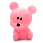 Cute Mickey Mouse Style Coin Bank Display Toy with Color Changing Light - Pink (2 x AG13)