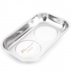 Stainless Steel Magnetic Small Parts Tray Dish - Silver