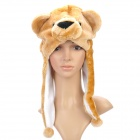 Cute Bear Style Short Plush Winter Hat - Yellow