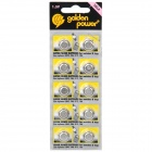 GoldenPower 1.5V LR43 / AG12 Cell Batteries (10-Pack)