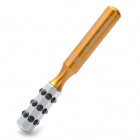 Quantum Science Facial Beauty Roller with Germanium Balls - Gold + Silver
