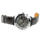 Men's Tachometer Watch with PU Leather Belt (Water Resistant)