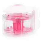 Rotation Toothbrushes Holder - White + Pink