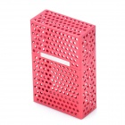 Mesh Aluminum Alloy Cigarette Case - Red