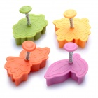 Leaves Stil Pie Crust Pastry Cutters (Set of 4)