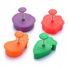 Vegetable Style Pie Crust Pastry Cutters (Set of 4)