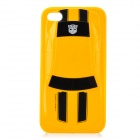 3D Transformers Car Image Pattern Protective PC Case for iPhone 4 / 4S - Yellow + Black