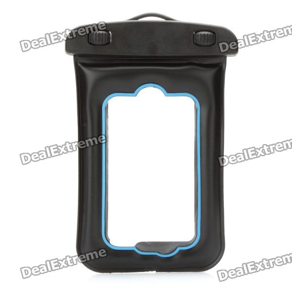 Universal Waterproof Bag with Strap for Iphone / MP3 / MP4 - Black + Blue купить