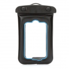 Universal Waterproof Bag with Strap for IPHONE / MP3 / MP4 - Black + Blue
