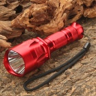 NEW-C11 5-Mode 370LM White LED Waterproof Flashlight w/ Strap - Red (1 x 18650)