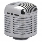 USB Rechargeable Resonance Speaker w/ FM / TF - Mirror Silver