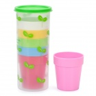 Tragbare Outdoor-Bunte Cups Set (1-Large / 6-Small)
