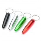 Aluminum Alloy Bullet Style Keychain with Small Gadgets Holder - Random Color