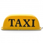 Cab Sign Car Taxi Light Lamp with Magnetic Base - 12V (Yellow Light)
