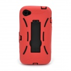 Protective Housing Case with Holder for iPhone 4S / 4 - Red