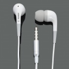 Stylish Earphone w/ Microphone for iPhone - White + Grey (3.5mm Jack / 138cm-Cable)