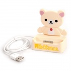 Bear Style USB Charging Docking Station for iPhone 4S / 4 - Yellow