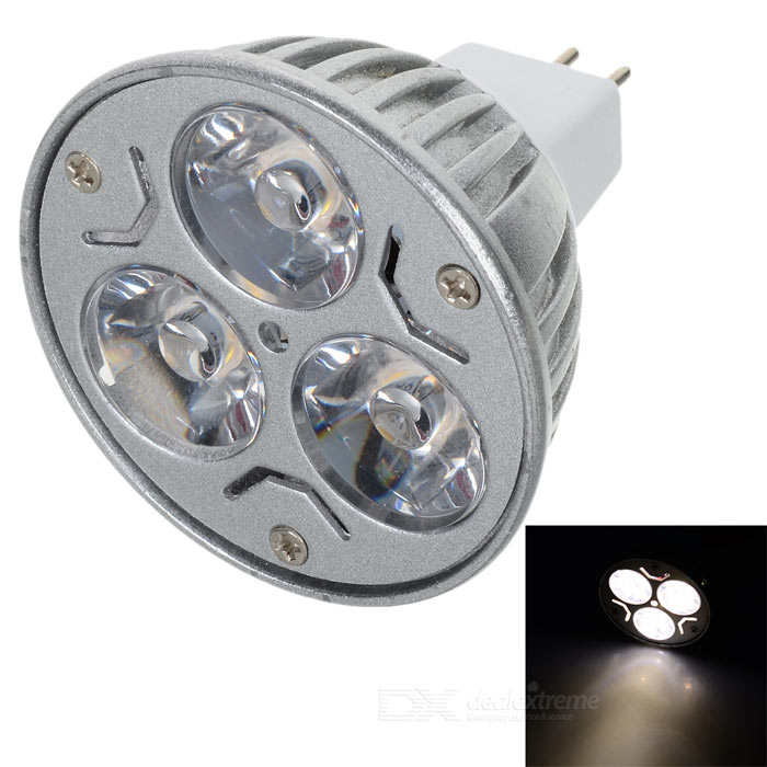 MR16 3W 3500K 200-Lumen 3-LED Warm White Light Bulb (12V) mr16 3w 3500k 260 lumen 3 led warm white light bulb 12v