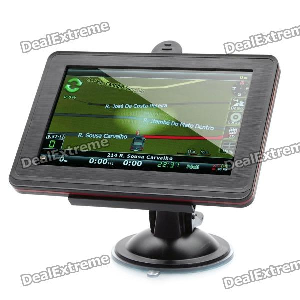 5.0 Touch Screen Win CE 5.0 GPS Navigation w/ TV / Bluetooth / FM / TF (Brazil Maps / 2GB) 800f 7 resistive screen win ce 6 0 car gps navigator black