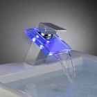 LED Color Changing Waterfall Bathroom Faucet (Batteries Free)