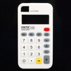 Creative Calculator Style Protective Silicone Case for Iphone 4 / 4S - White
