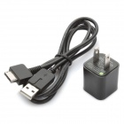 Power Adapter w/ USB Data / Charging Cable for PS Vita (AC 100~240V / 2-Flat-Pin Plug)
