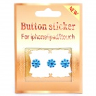 Flower Pattern Home Button Sticker for Iphone 4 /4S - Random Color (3-Piece Pack)