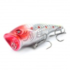 Lifelike Fish Style Fishing Bait w/ Treble Hooks - Red + Yellow + Silver