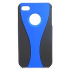 Unique Cup Pattern Protective PC Case for iPhone 4 / 4S - Blue + Black