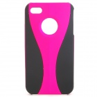 Unique Cup Pattern Protective PC Case for Iphone 4 / 4S - Deep Pink + Black