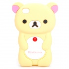 Protective Cute Cartoon Bear Style Silicone Case for iPhone 4 / 4S - Yellow