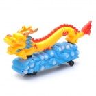 Dragon Model Toy w/ Chinese Festival Music / Flashing Light / Omni-Directional Wheel - Yellow (3xAA)